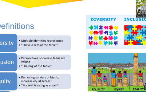 During the webinar, Waters differentiated between diversity, inclusion and equity.