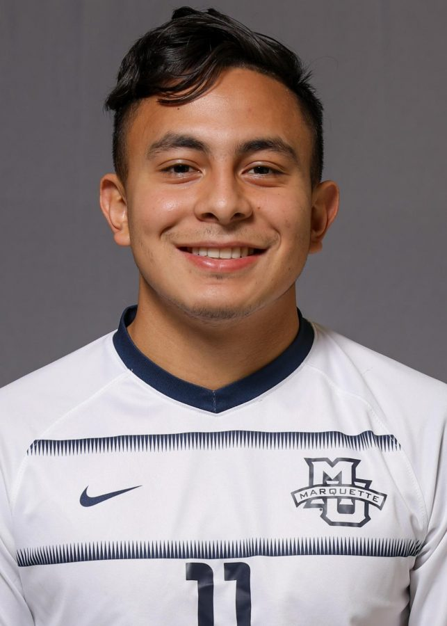 Beto+Soto+is+a+first-year+on+the+men%27s+soccer+team.+%28Photo+courtesy+of+Marquette+Athletics.%29