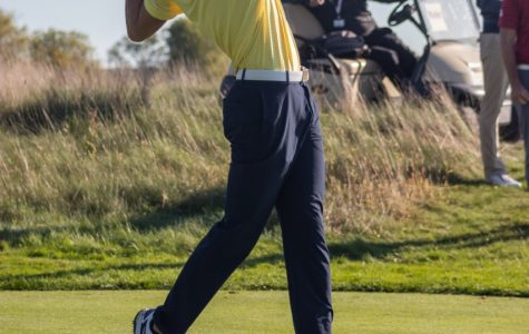 Hunter Eichhorn hits the golf ball at Erin Hills October 8, 2019.
