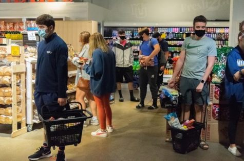 Students rushed to Sendik's Fresh2Go to get groceries before the mandatory quarantine.