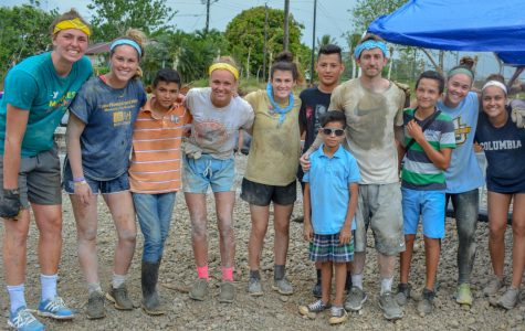 Marquette Athletics sent 16 student-athletes to Juanilama, Costa Rica and build a sports court for the community through a partnership with an organization called 'Courts for Kids.' (Photo courtesy of Marquette Athletics.)