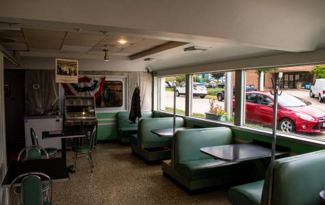 Miss Katie's Diner is located on the corner of 19th and Clybourn Streets.