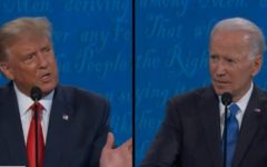 Both candidates were spaced 12 feet apart at Thursday's debate.