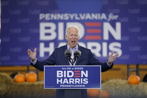 Joe Biden at a rally in Pennsylvania.  AP Photos