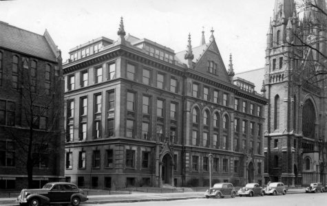 Johnston Hall was built in 1907 as one of Marquette's first university buildings.