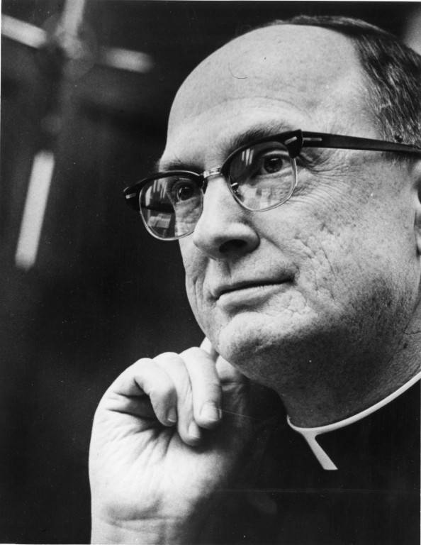 Fr. John P. Raynor, S.J., served as Marquette's president from 1965 to 1990, the longest tenure of any president in the university's history. Photo courtesy the Department of Special Collections and University Archives, Raynor Memorial Libraries, Marquette University