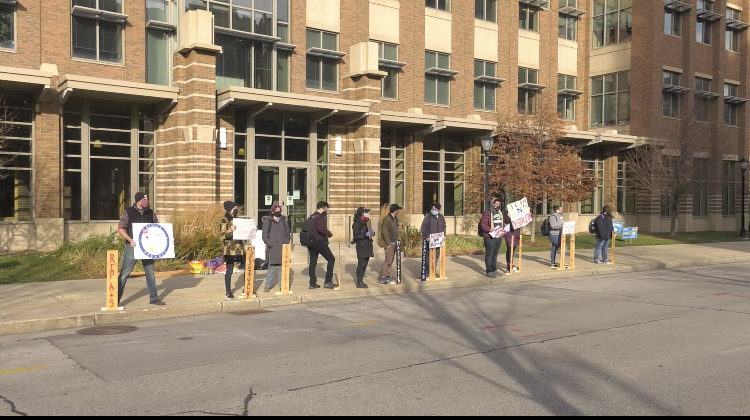 Students protest potential layoffs