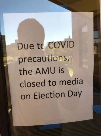 The signs were on all doors of the Alumni Memorial Union.