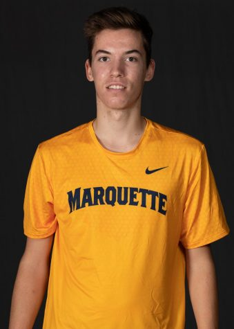 Nikola Kijac is a first-year tennis player from Serbia. (Photo courtesy of Marquette Athletics.)