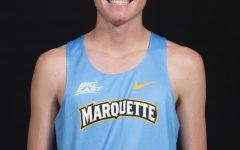 Thomas Leonard is a first-year cross country runner from Chicago. He led his cross country team to qualify for the 2017 state championships as a sophomore. (Photo courtesy of Marquette Athletics.)