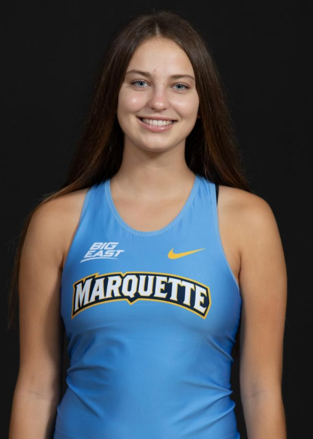 Gretchen Pfeiffer is a first-year cross country runner from Texas. (Photo courtesy of Marquette Athletics.)