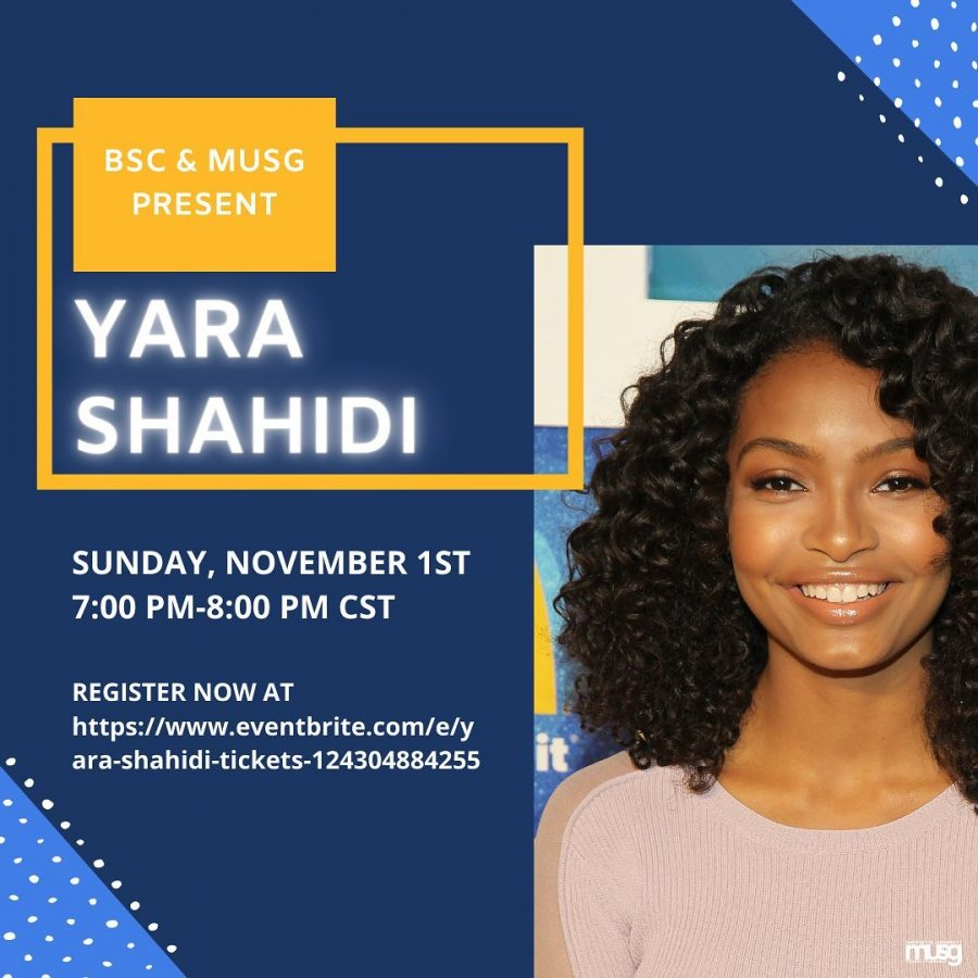 Marquette University Student Government and Black Student Council organized a Zoom call with actress Yara Shahidi Sunday, Nov. 1. Photo courtesy MUSG.