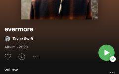 "Taylor Swift released her ninth studio album, ""evermore,"" Dec. 11."