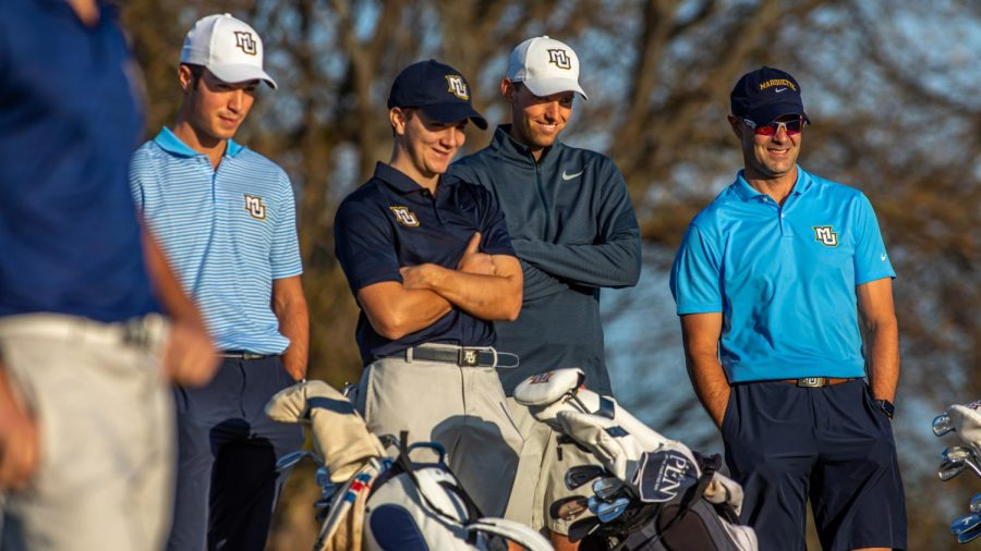 Head+coach+Steve+Bailey+%28far+right%29+stands+with+his+team.+%28Photo+courtesy+of+Marquette+Athletics.%29