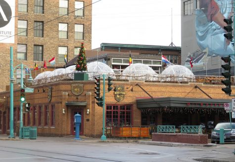 Cafe Benelux is located in the Third Ward and offers six well-heated domes on the rooftop patio.