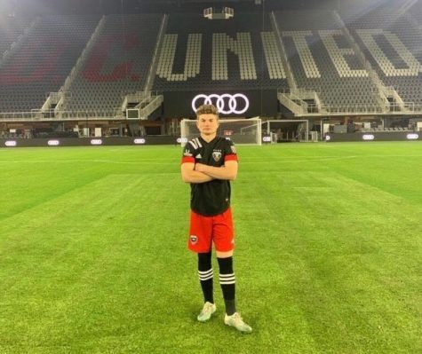 Tasker Wheeler played with the D.C. United U-18/19 team from 2019-2020. (Photo courtesy of Tasker Wheeler.)