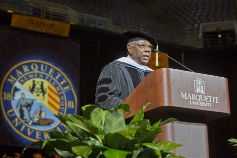 Hank Aaron was the speaker at Marquette