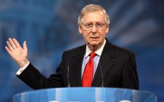 U.S. Senate majority leader Mitch McConnell denounced former President Trump's encouragement of supporters raiding the Capitol building. Photo via Flickr
