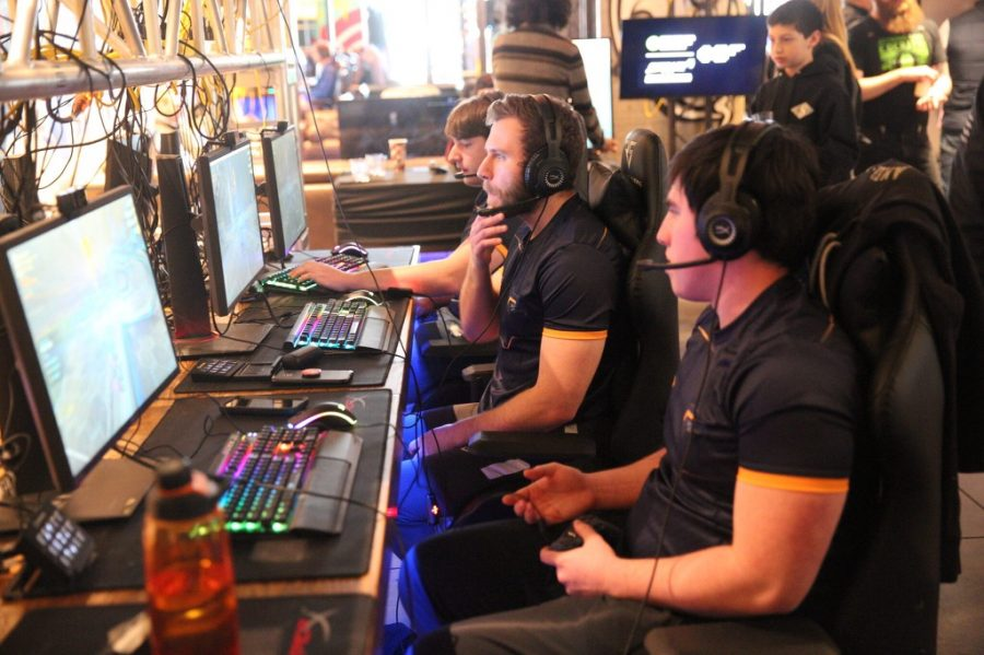 Marquette Gaming and Esports' Rocket League team participating at the 2019 NY LAN tournament (Photo courtesy of Courtesy of Joshua Fendry-Gill and the Marquette Gaming and Esports team.)