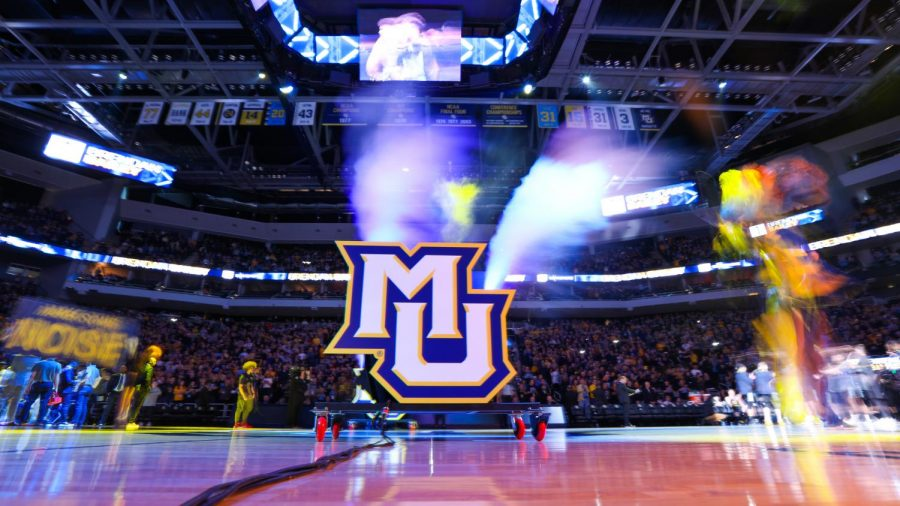 1,800 Mquette fans are expected to be allowed at Fiserv Forum for the National Marquette Day game March 6. (Photo courtesy of Marquette Athletics.)