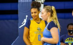 Okosun is a first year forward on the Marquette  women's basketball team (Photo Courtesy of Marquette Athletics).