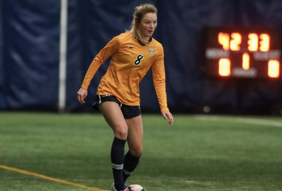 Marquette women's soccer won two consecutive games over the weekend at Valley Fields. (Photo courtesy of Marquette Athletics.)