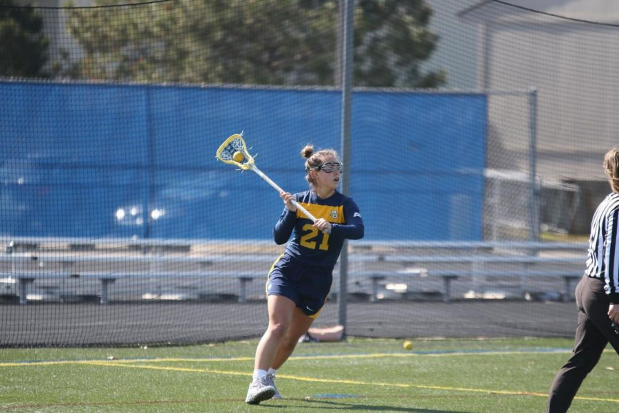 Junior attack Shea Garcia scored two goals on Sunday afternoon (Photo Courtesy of Marquette Athletics).