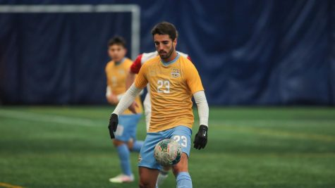 Junior midfielder Zyan Andrade scored the game-winning goal in overtime against the St. Louis Bilikens on Saturday to give the Golden Eagles their third win of the season (Photo courtesy of Marquette Athletics.)