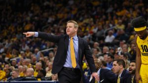 Steve Wojciechowski coaches on the sidelines  Jan. 21, 2020. Marquette Wire stock photo