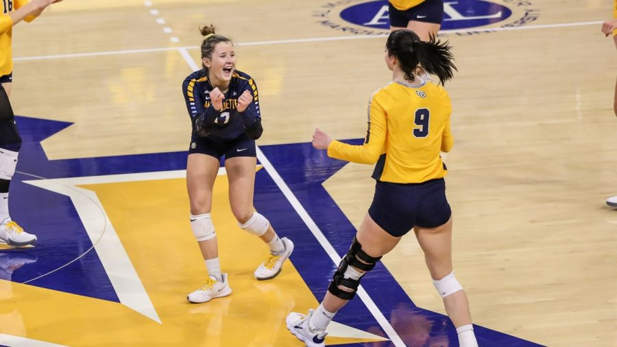 Marquette lost their first game in a month on Friday against Butler (Photo courtesy of Marquette Athletics.)