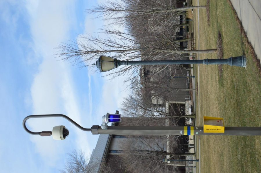 MUPD blue lights are located in various spots around campus