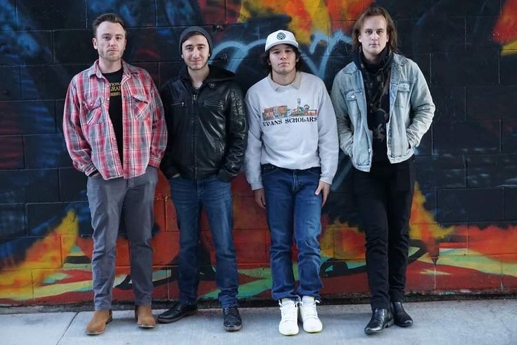 New Milwaukee-based band Alley Eyes poses for their Instagram debut. The band focuses on creating a Milwaukee-based sound.
