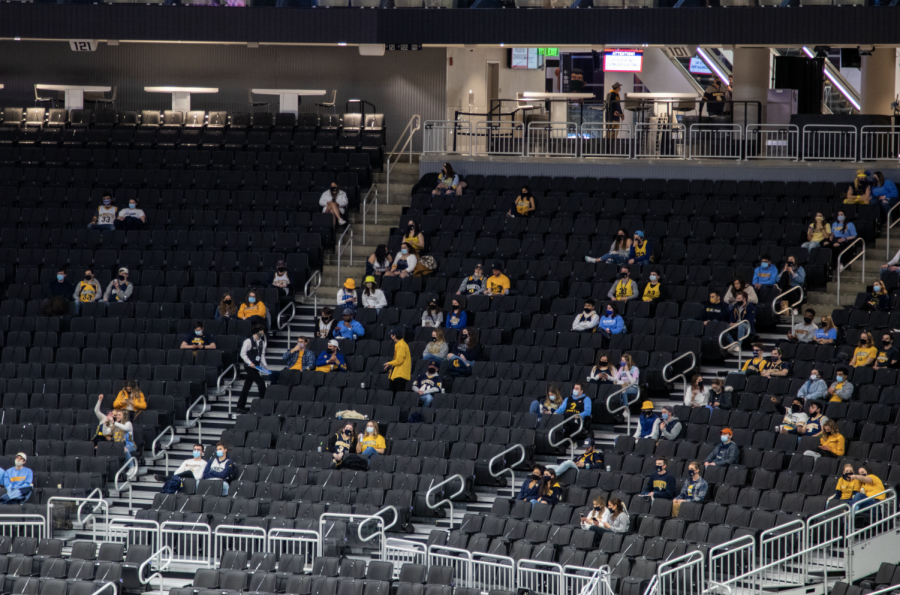 Marquette seniors who held basketball season passes last year were offered tickets to the game. While the stadium wasn't packed, spirit was high.