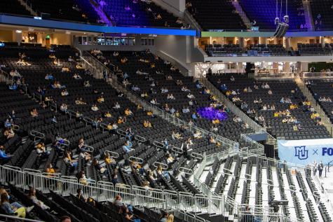 A select number of fans were allowed into Fiserv Forum on National Marquette Day.