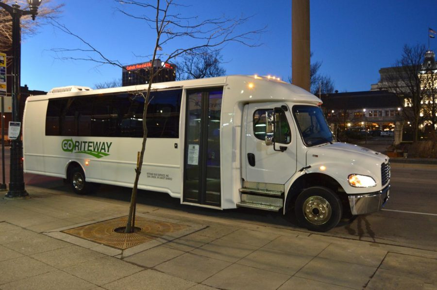 Marquette is primarily utilizing GoRiteWay buses instead of traditional LIMO vans.