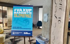 The #VaxUpMarquette campaign encourages students to receive the COVID-19 vaccine
