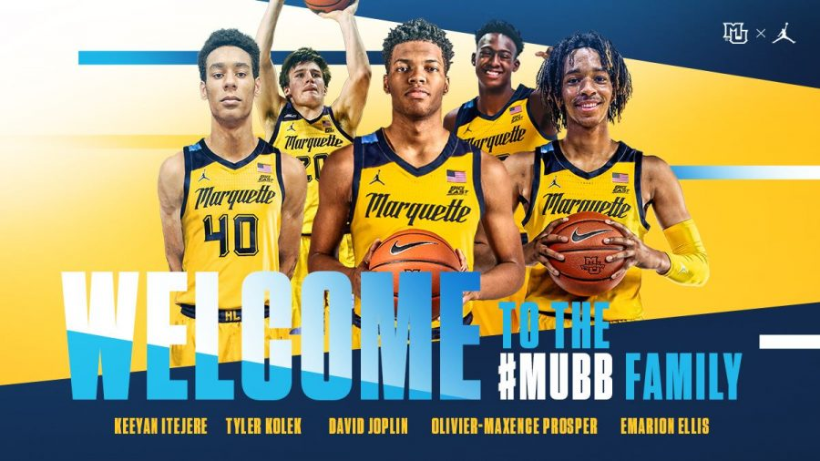 Five+new+additions+to+Marquette%27s+mens+basketball+roster+were+announce+on+Thursday+%28Photo+courtesy+of+Marquette+Athletics%29.