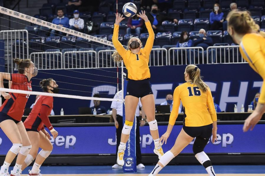 Marquette swept St. John's 3-0 Friday afternoon in the semifinal match of the BIG EAST Tournament (Photo courtesy of Marquette Athletics.)