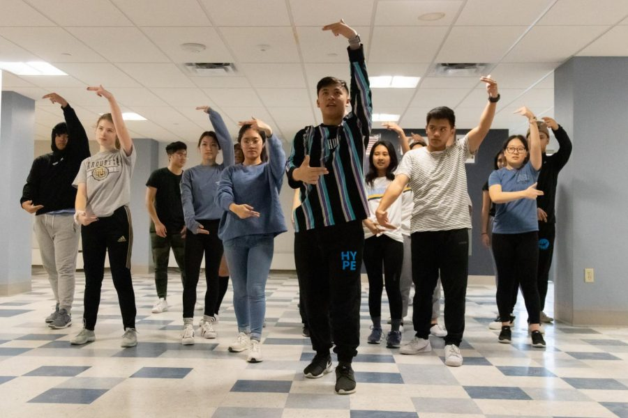 Bayanihan Student Organization members practiced a dance for their performace in November 2019. Marquette Wire Stock Photo