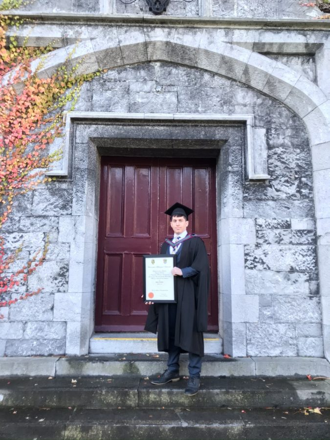 James D'Amico graduated from the graduate program at National University of Ireland Galway Nov. 19, 2019. Photo courtesy Mary Maloney.