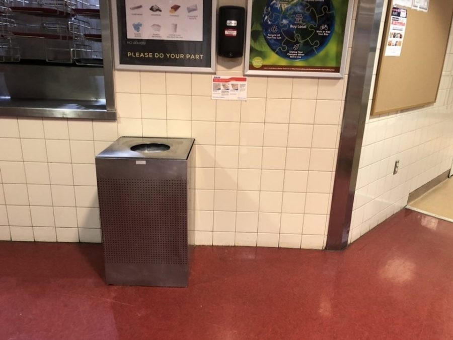 There is one waste option in Cobeen Hall.