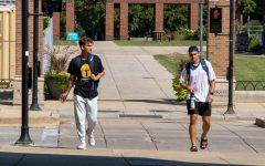 Students walking outside of Alumni Memorial Union