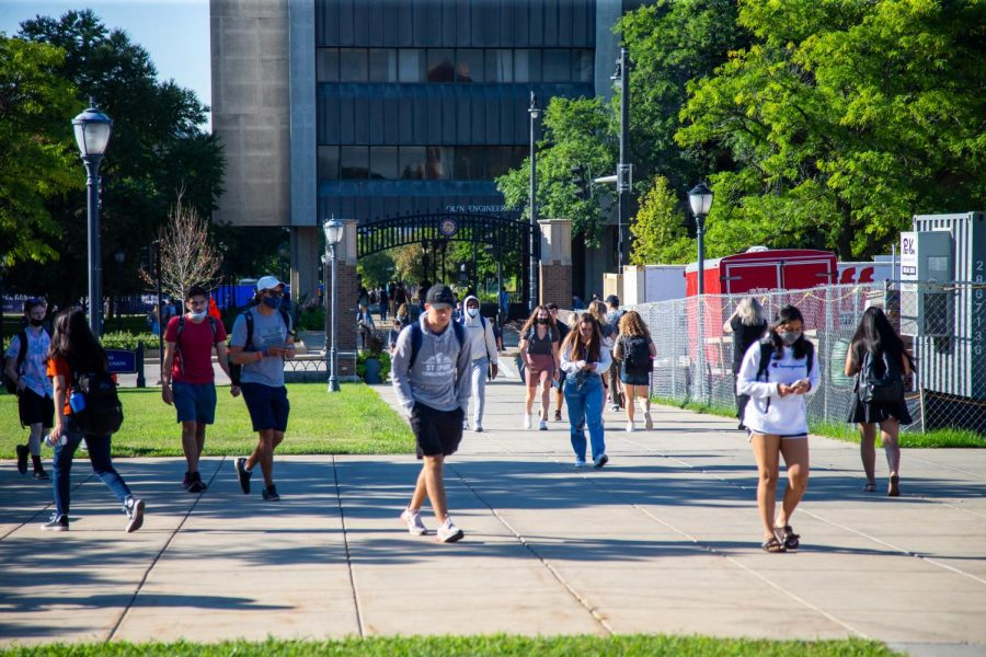 Students must wear masks in indoor public spaces on campus.