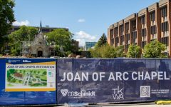 The St. Joan of Arc chapel is currently undergoing restoration