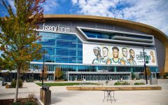 Marquettes mens basketball team plays in the Fiserv Forum.