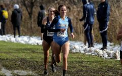 Emily Foley (241) runs in the 2019 BIG EAST Cross Country Championship. (Photo courtesy of Marquette Athletics.)