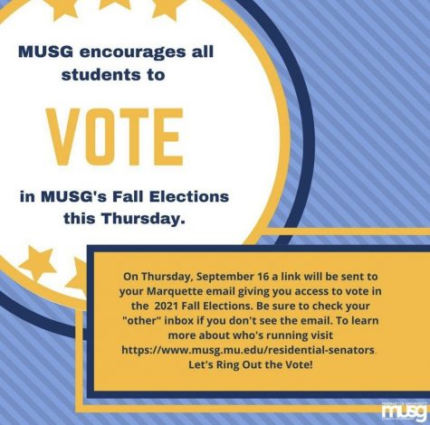 Marquette University Student Government holds elections for 2021 residential senators.