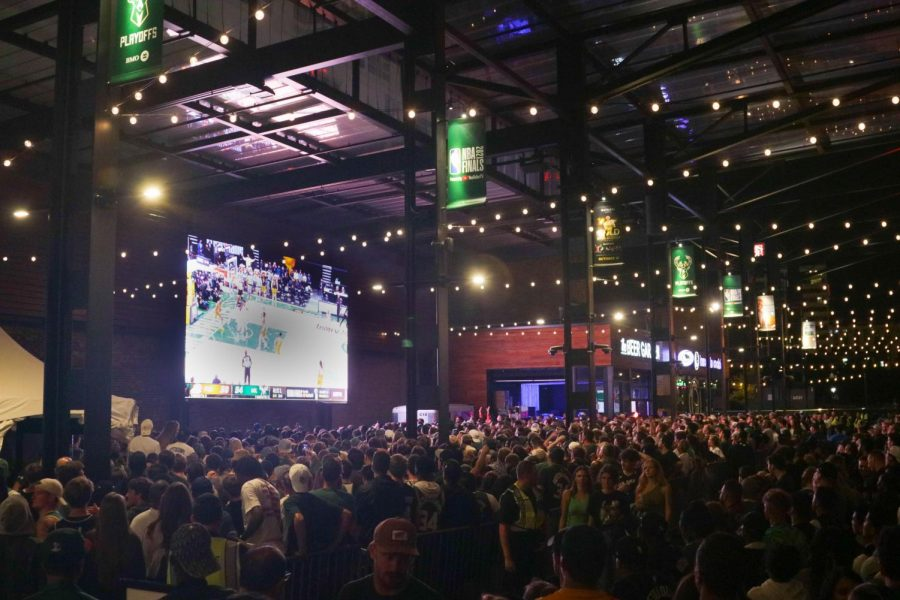 A+full+capacity+crowd+of+65%2C000+people+came+out+to+the+district+for+game+six+of+the+NBA+Finals+to+watch+the+Bucks+win+the+championship+title.