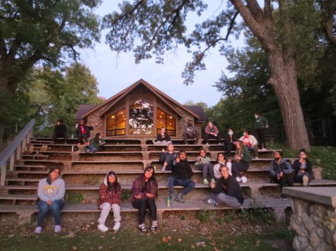 A picture of the 414 Fellows on retreat